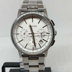 Fossil Men's Stainless Steel White Dial Watch E268